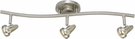 Cal SL-808-3-BS Serpentine Contemporary Brushed Steel LED 3-Light Track Lighting