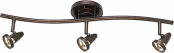 Cal SL-808-3-RU Serpentine Contemporary Rust LED 3-Light Home Track Lighting