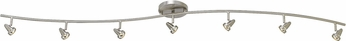 Cal SL-808-7-BS Serpentine Contemporary Brushed Steel LED 7-Light Home Track Lighting