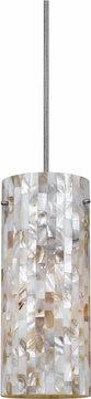 Cal UP-1031-6-BS Uni-Pack Modern Brushed Steel Seashell Mini Hanging Light Fixture