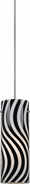 Cal UP-1033-6-BS Uni-Pack Modern Brushed Steel Black and White Mini Drop Ceiling Lighting