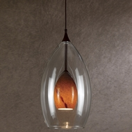 Cal UP-1048-6-RU Uni-Pack Contemporary Rust Amber Swirl Halogen Mini Pendant Lighting