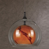 Cal UP-1050-6-RU Uni-Pack Modern Rust Amber Swirl Halogen Mini Pendant Light