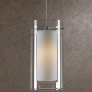 Cal UP-1051-6-BS Uni-Pack Contemporary Brushed Steel White Halogen Mini Lighting Pendant