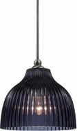 Cal UP-1069-6-BS Uni-Pack Modern Brushed Steel Blue Violet Mini Hanging Pendant Light