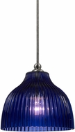 Cal UP-1072-6-BS Uni-Pack Contemporary Brushed Steel Blue Mini Drop Lighting