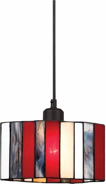 Cal UP-1080-6-BK Uni-Pack Modern Black Tiffany Multi Mini Drop Ceiling Lighting