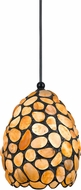 Cal UP-1100-6-DB Uni-Pack Modern Dark Bronze Amber Mini Pendant Lamp
