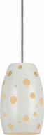 Cal UP-1102-6-WH Uni-Pack Contemporary White Mini Pendant Light Fixture