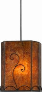 Cal UP-3549-6-BK Uni-Pack Contemporary Black Mica Mini Hanging Pendant Lighting