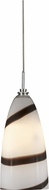 Cal UP-960-6-BS Uni-Pack Contemporary Brushed Steel White Chocolate Swirl Halogen Mini Pendant Hanging Light