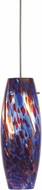 Cal UP-969-6-BS Uni-Pack Modern Brushed Steel Blue Red Swirl Halogen Mini Hanging Light Fixture