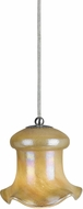 Cal UP-978-6-BS Uni-Pack Modern Brushed Steel Cream Mini Drop Ceiling Lighting