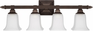 Capital Lighting 1064BB-142 Capital Vanities Burnished Bronze 4-Light Bath Lighting