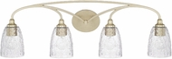 Capital Lighting 110841SF-302 Seaton Contemporary Soft Gold 4-Light Bathroom Vanity Lighting