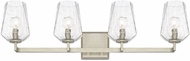 Capital Lighting 111241BS-317 Arden Modern Brushed Silver 4-Light Vanity Lighting Fixture