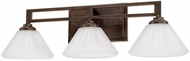 Capital Lighting 111331RS-318 Avalon Russet 3-Light Bathroom Wall Sconce
