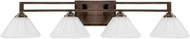 Capital Lighting 111341RS-318 Avalon Russet 4-Light Bath Wall Sconce