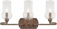 Capital Lighting 111631RT-322 Rowan Rustic 3-Light Bathroom Lighting Sconce