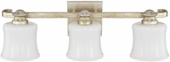 Capital Lighting 111731GS-352 Carlyle Gilded Silver 3-Light Bathroom Wall Light Fixture