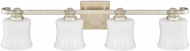 Capital Lighting 111741GS-352 Carlyle Gilded Silver 4-Light Bathroom Lighting