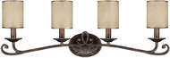 Capital Lighting 1119RT-510 Reserve Traditional Rustic 4-Light Bathroom Light Sconce