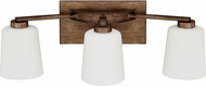 Capital Lighting 112031RT-323 Reid Rustic 3-Light Bath Lighting