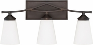 Capital Lighting 112331BB-324 Boden Modern Burnished Bronze 3-Light Bath Light Fixture