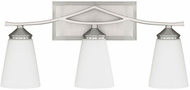 Capital Lighting 112331BN-324 Boden Contemporary Brushed Nickel 3-Light Bath Lighting Fixture
