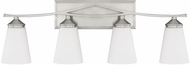 Capital Lighting 112341BN-324 Boden Modern Brushed Nickel 4-Light Bathroom Vanity Light