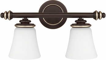 Capital lighting 114921cz 336 asher champagne bronze 2 - Champagne bronze bathroom vanity light ...