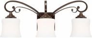 Capital Lighting 118731DS-299 Kingsley Dark Spice 3-Light Vanity Lighting