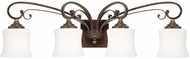 Capital Lighting 118741DS-299 Kingsley Dark Spice 4-Light Vanity Light