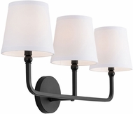 Capital Lighting 119331MB-674 Dawson Matte Black 3-Light Bathroom Light Sconce