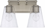 Capital Lighting 121721BN-463 Contemporary Brushed Nickel 2-Light Bath Lighting
