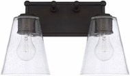 Capital Lighting 121721OB-463 Modern Old Bronze 2-Light Bathroom Light