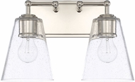 Capital Lighting 121721PN-463 Contemporary Polished Nickel 2-Light Bathroom Lighting Fixture