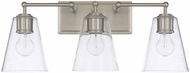 Capital Lighting 121731BN-463 Modern Brushed Nickel 3-Light Vanity Lighting