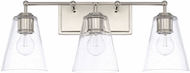 Capital Lighting 121731PN-463 Modern Polished Nickel 3-Light Bath Light Fixture