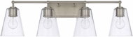 Capital Lighting 121741BN-463 Contemporary Brushed Nickel 4-Light Bath Lighting Fixture