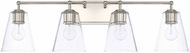 Capital Lighting 121741PN-463 Contemporary Polished Nickel 4-Light Bathroom Vanity Lighting