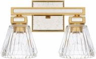 Capital Lighting 123021CG-436 Abella Modern Capital Gold 2-Light Bathroom Vanity Light