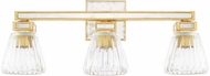Capital Lighting 123031CG-436 Abella Contemporary Capital Gold 3-Light Bathroom Sconce
