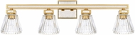 Capital Lighting 123041CG-436 Abella Modern Capital Gold 4-Light Bath Sconce