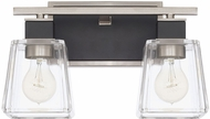Capital Lighting 125221BT-445 Tux Contemporary Black Tie 2-Light Vanity Light Fixture