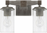 Capital Lighting 125921UG-435 Zac Urban Grey 2-Light Bathroom Sconce Lighting