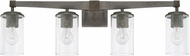 Capital Lighting 125941UG-435 Zac Urban Grey 4-Light Bathroom Wall Light Fixture