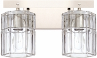 Capital Lighting 127621PN-458 Sloane Contemporary Polished Nickel 2-Light Vanity Light