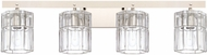 Capital Lighting 127641PN-458 Sloane Contemporary Polished Nickel 4-Light Bath Lighting Fixture
