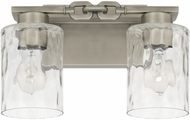 Capital Lighting 127921AN-455 Wallace Modern Antique Nickel 2-Light Bathroom Light Fixture
